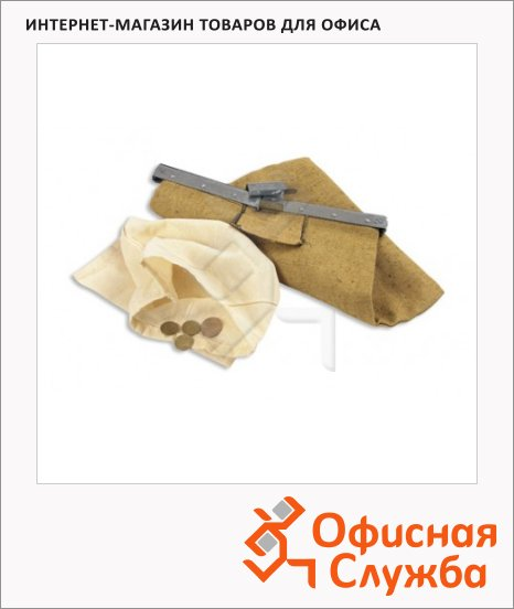 Сумка инкассаторская 400х600мм, брезент/бязь