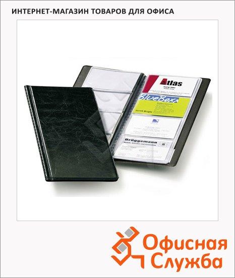 фото: Визитница Durable Visifix на 96 визиток 253х115мм, ПВХ, черная, 2380-01