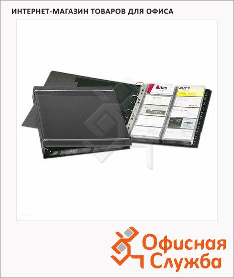 Визитница Durable Visifix на 400 визиток, антрацит, ПВХ, 2388-58