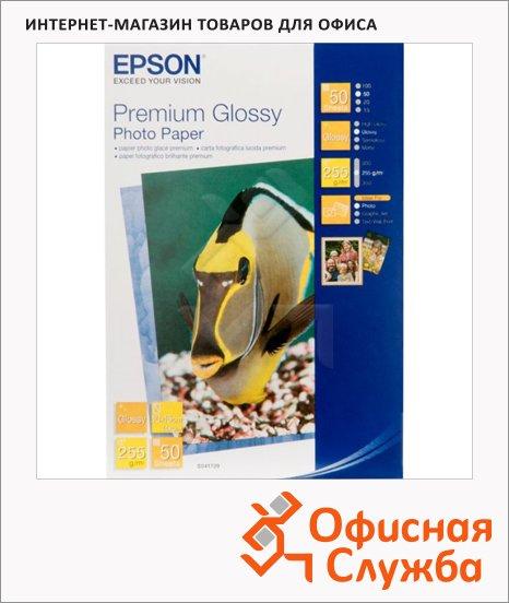 фото: Фотобумага для струйных принтеров Epson Premium А6 50 листов, 255 г/м2, глянцевая, S041729