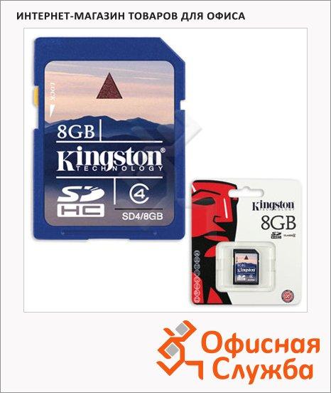 Карта памяти Kingston SDHC, 4мб/с, 8Gb