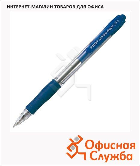 Ручка шариковая автоматическая Pilot Super Grip BPGP-10R-F-L синяя, 0.32мм