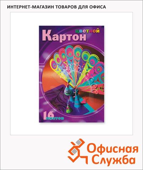 фото: Цветной картон Мультики 8 цветов А4, 16 листов