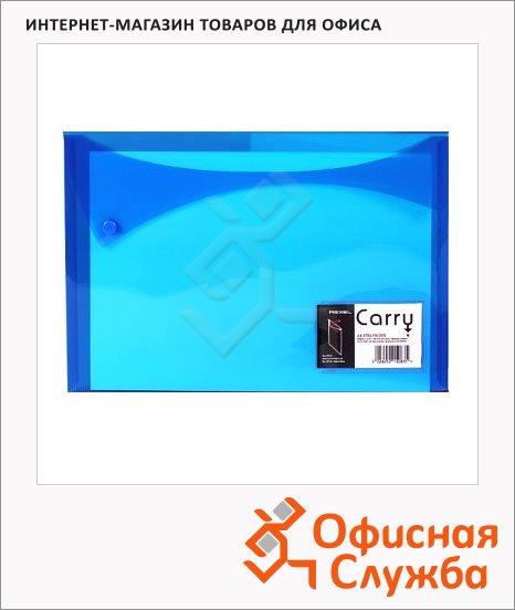 Папка-конверт на кнопке Rexel Carry, А4, синяя
