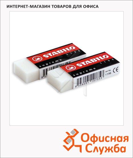 Ластик Stabilo Supreme 62х22х11мм, белый, 1196