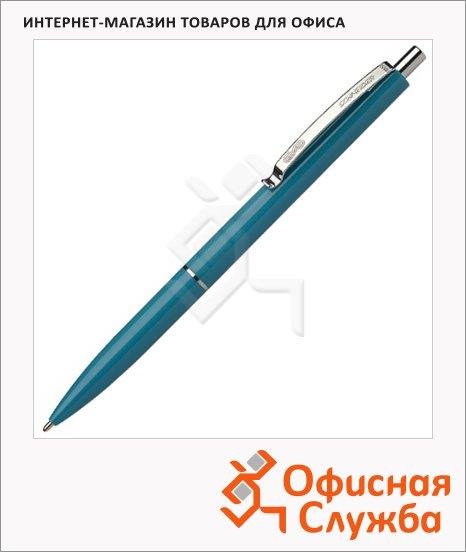 фото: Ручка шариковая автоматическая Schneider K15 синяя 0.5мм, зеленый корпус