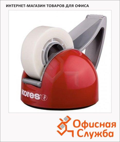 Диспенсер с клейкой лентой Kores DeskPot Syrom 19мм х33м, красный