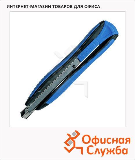 Нож канцелярский Maped Zenoa Sensitiv 9мм, черно-синий, 086010