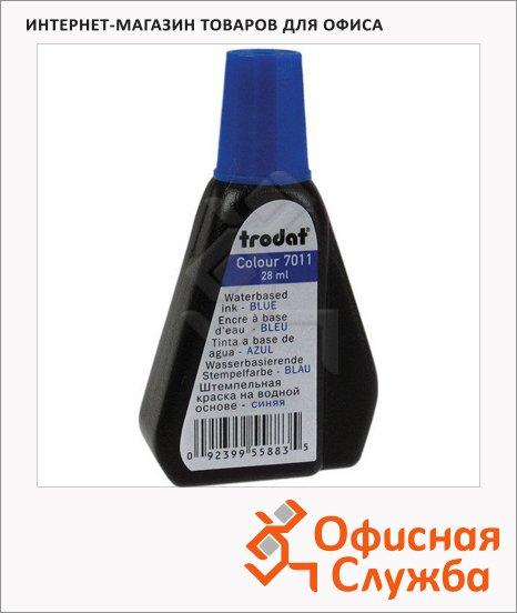 Штемпельная краска на водной основе Trodat 28мл, 7011, синяя
