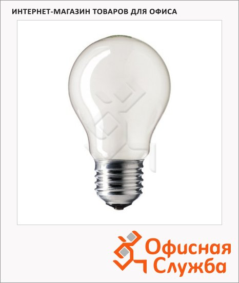 фото: Лампа накаливания Philips CL/A55 75Вт Е27