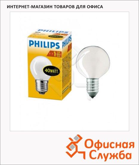фото: Лампа накаливания Philips FR/P45 40Вт E14