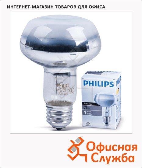 фото: Лампа накаливания Philips Spot R80 60Вт E27, 2700К, теплый белый свет, рефлектор