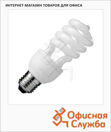 фото: Лампа энергосберегающая 15(75)Вт Е27, теплый белый