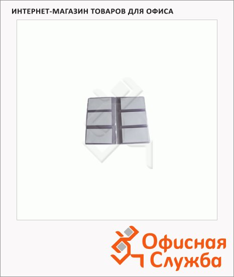 Блок карманов для визитниц Brunnen прозрачный, 13.5х20 см, на 96 визиток