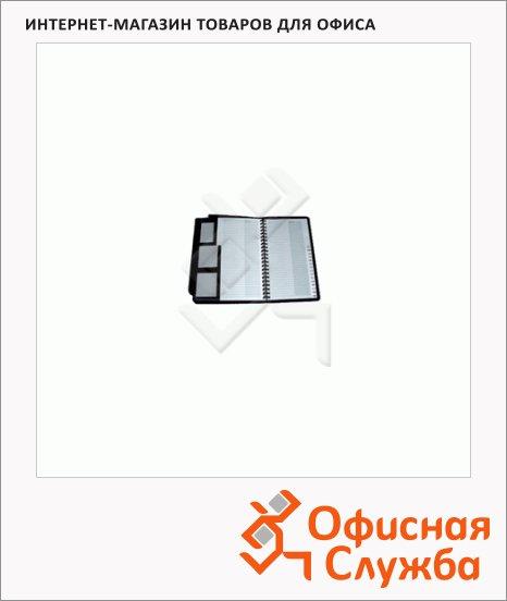 Блок карманов для визитниц Brunnen прозрачный, 10.5х19см, на 96 визиток