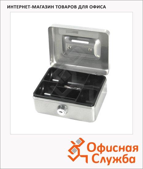 фото: Кэшбокс Office Force T38 ключевой замок, серебристый, 6х9х12см