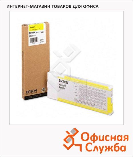 Картридж струйный Epson C13 T606400, желтый