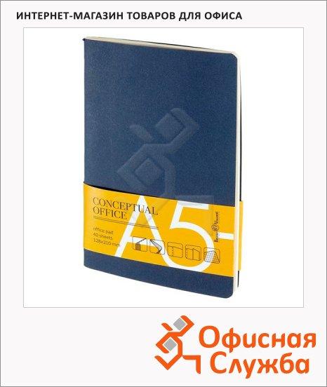 фото: Тетрадь Conceptual Office синяя А5, 40 листов, в клетку, на сшивке, картон