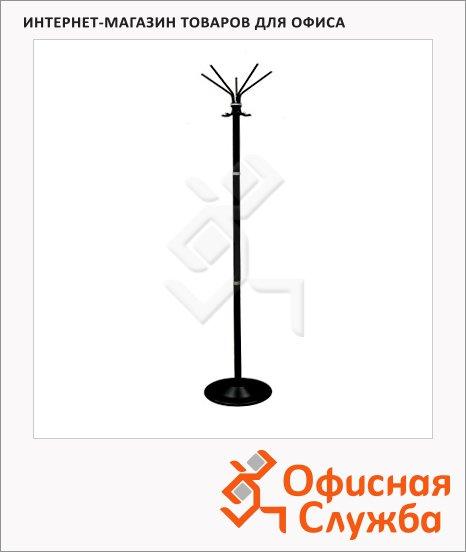 Вешалка-стойка напольная Титан Класс-С, черная, 1810х400мм