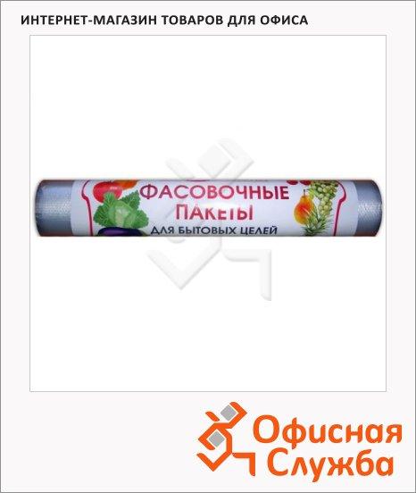 Пакеты фасовочные ПНД 17х28см, 9мкм, 100 шт/рул