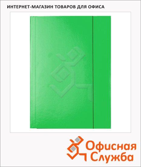 Картонная папка на резинке Esselte зеленая, А4, до 400 листов, 13437