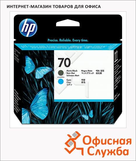 фото: Печатающая головка Hp 70 C9404A матово-черная+голубая