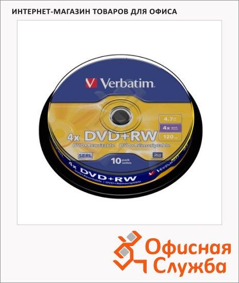 фото: Диск DVD+RW Verbatim 4.7Gb 10шт/уп