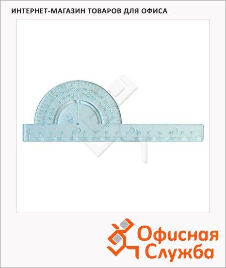 Транспортир Uniplast 180°, основание 16см, прозрачный