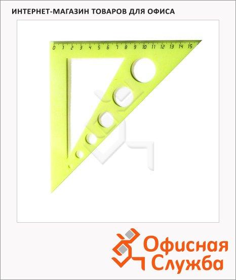 Угольник Uniplast 16см, 45°/45°, с окружностями