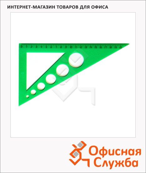 Угольник Uniplast 21см, 30°/30°, с окружностями