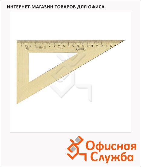 Угольник Можга С-15 23см, 30°/60°, деревянный