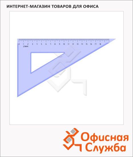 Угольник Стамм ТК-47 18см, 30°/60°, прозрачный