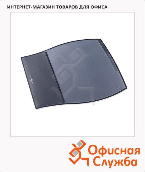 Коврик настольный для письма Durable Desk Pad 39х44см, 3 кармана, черный, 7209-01