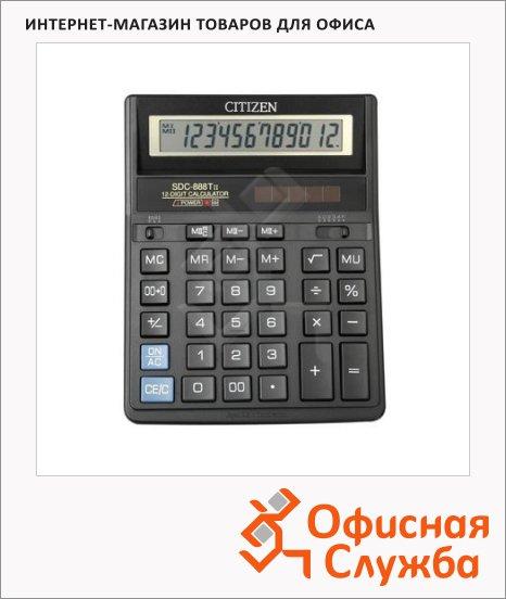 Калькулятор настольный Citizen SDC-888TII черный, 12 разрядов
