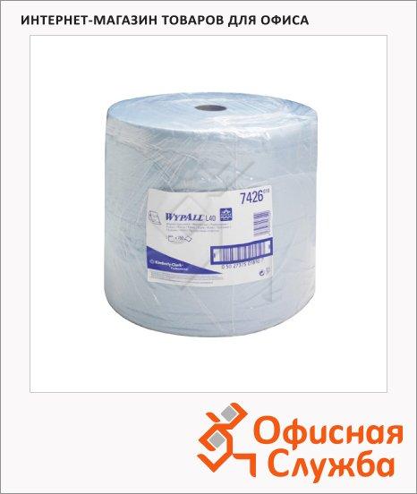 Протирочные салфетки Kimberly-Clark WypAll L40 7426, в рулоне, 750шт, 3 слоя, синие