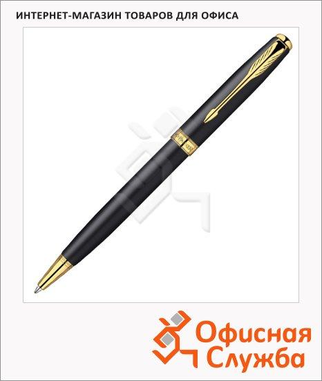 Ручка шариковая Parker Sonnet М, черная, черный/золотой корпус