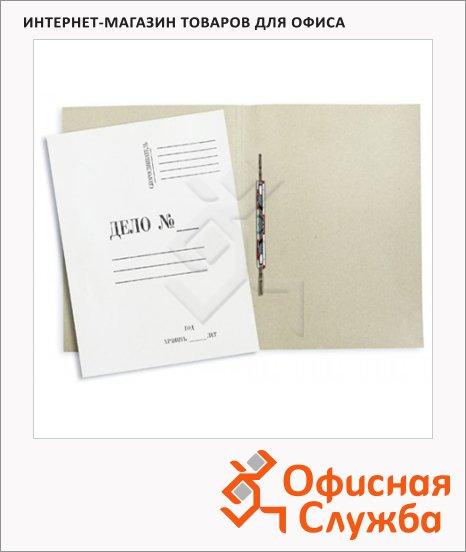фото: Скоросшиватель картонный Дело белый А4, 440 г/м2