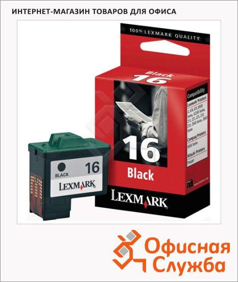 фото: Картридж струйный Lexmark 16 10N0016 черный
