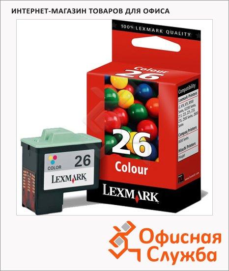 фото: Картридж струйный Lexmark 26 10N0026 трехцветный