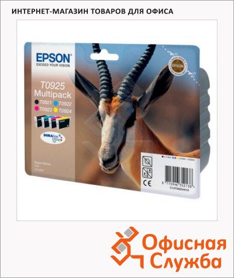 Картридж струйный Epson C13 T09254A10, 4 цвета, 4 шт/уп