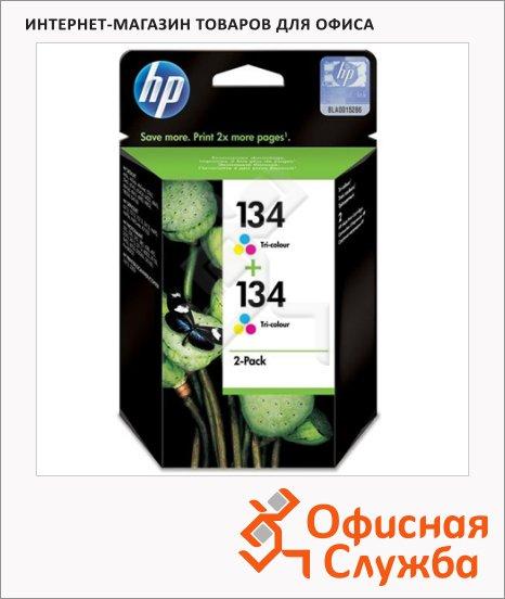 Картридж струйный Hp 134 C9505HE, 3 цвета, 2шт/уп