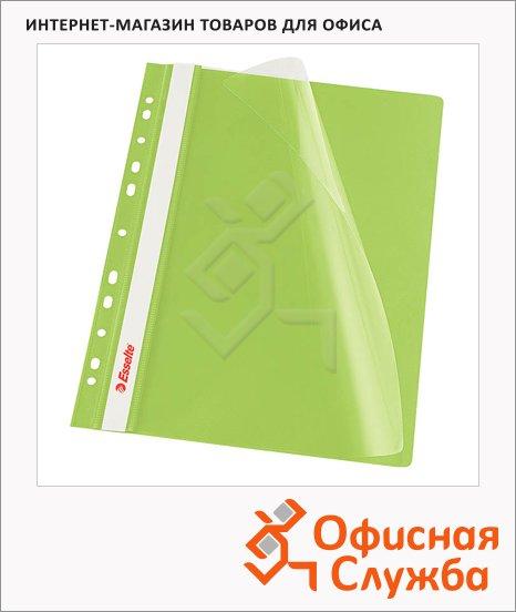 Скоросшиватель с перфорацией Esselte зеленый, А4, 10 шт/уп, 13587