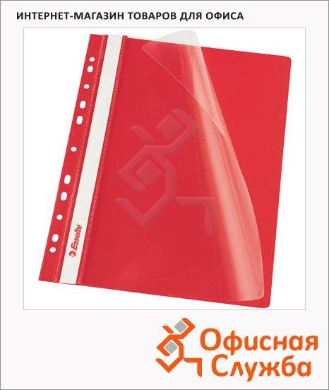 фото: Скоросшиватель с перфорацией Esselte красный А4, 10 шт/уп, 13585