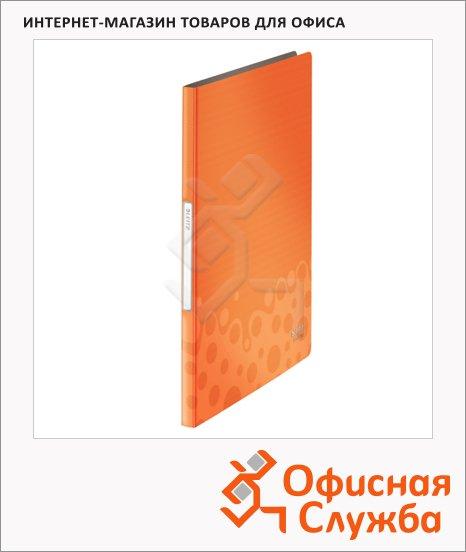Папка файловая Leitz Bebop оранжевая, А4, на 20 файлов, 45640045