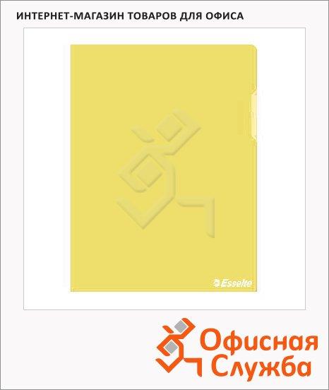 Папка-уголок Esselte желтая, A4, 150мкм, 25 шт/уп, 55431