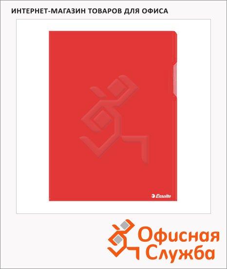 Папка-уголок Esselte красная, A4, 150мкм, 25 шт/уп, 55433