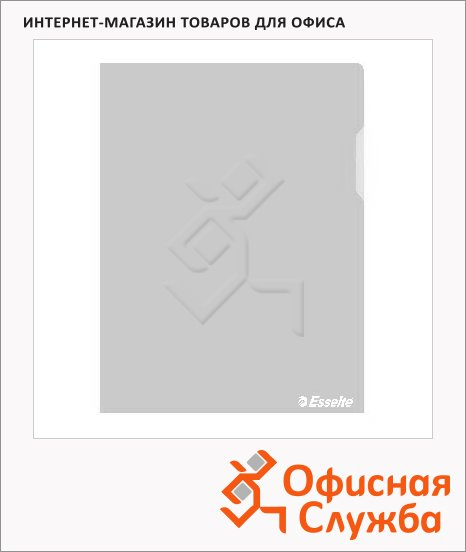 фото: Папка-уголок Esselte прозрачная A4, 150мкм, 25 шт/уп, 55430
