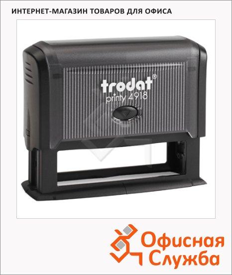 Оснастка для прямоугольной печати Trodat Printy 75х15мм, 4918, черная