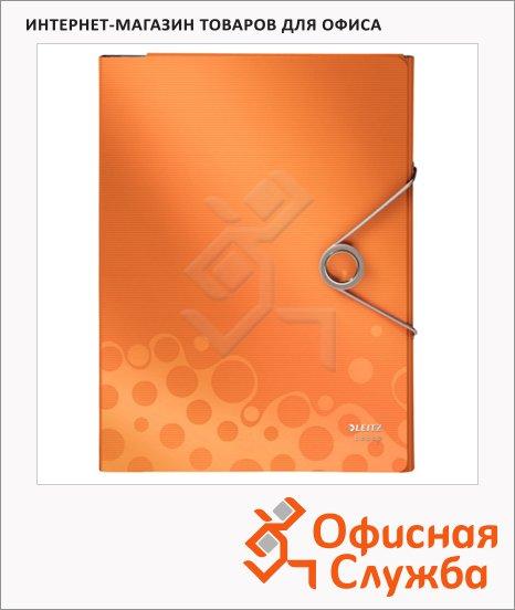 Папка-органайзер Leitz Bebop оранжевая, А4, 4 раздела, 45800045