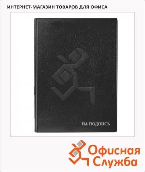 фото: Папка адресная На подпись черная А4, пвх